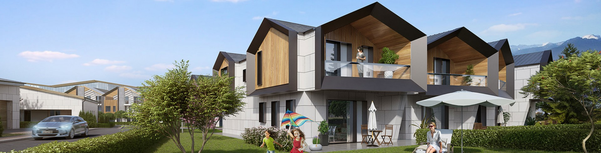 Single family two-storey row houses SRH